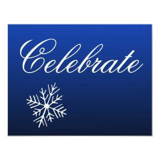 Snowflakes  Holiday Invitations