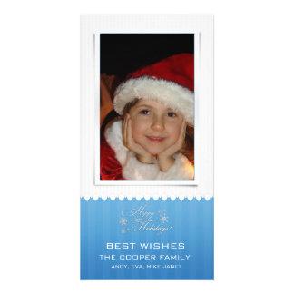 Snowflakes -Holiday photocards Photo Card