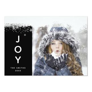 Snowflakes Holidays Photo Card