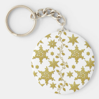 Snowflakes holly Christmas holiday party copy Keychain