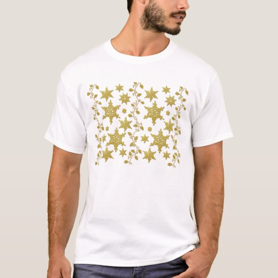 Snowflakes holly Christmas holiday party copy T-Shirt