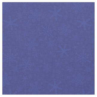 Snowflakes in Blue   Holiday Fabric