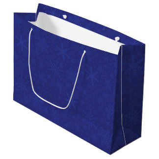 Snowflakes in Blue | Holiday Gift Bag