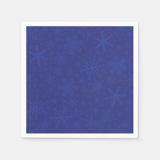 Snowflakes in Blue   Holiday Napkins Disposable Napkins