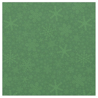 Snowflakes in Green | Holiday Fabric
