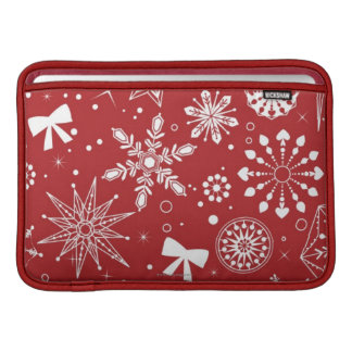 Snowflakes in Heart MacBook Sleeve