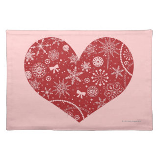 Snowflakes in Heart Placemat