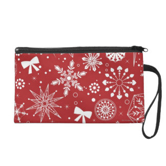 Snowflakes in Heart Wristlet