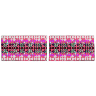 Snowflakes in pink pillowcase