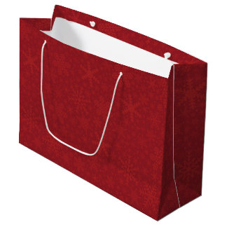 Snowflakes in Red | Holiday Gift Bag