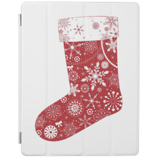 Snowflakes in Stocking iPad Cover