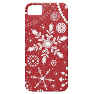Snowflakes in Stocking iPhone 5 Cases
