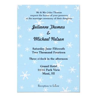 "Snowflakes 5"" X 7"" Invitation Card"