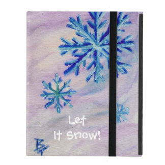 Snowflakes iPad Folio Case