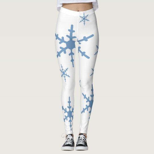 Snowflakes Let it Snow Leggings
