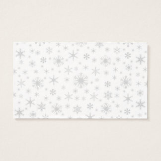 Snowflakes - Light Gray on White Business Card