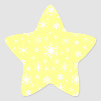 Snowflakes – Light Yellow on Yellow Star Stickers
