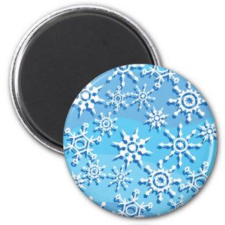 Snowflakes Fridge Magnets