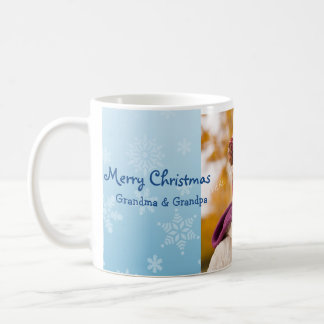 Snowflakes Merry Christmas Grandparents Mug