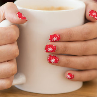 SnowFlakes Minx Nail Art, Single Design per Hand Nails Sticker