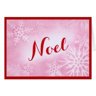 Snowflakes Noel Christmas Card