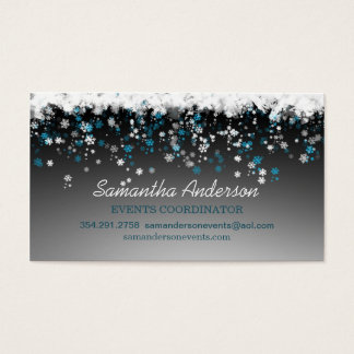 Snowflakes on black event planner