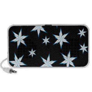 Snowflakes on Black Portable Speaker