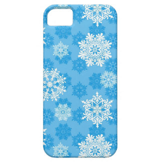 Snowflakes on Blue Background Barely There iPhone 5 Case