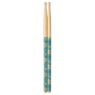 Snowflakes on Blue Background Drumsticks