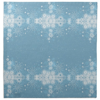 Snowflakes on Blue Napkins