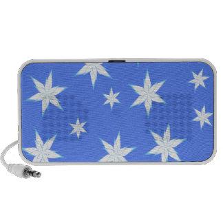 Snowflakes on Blue iPod Speakers