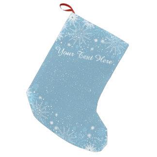 Snowflakes on Blue Stocking