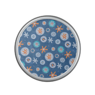 Snowflakes on Blue Winter Christmas Holiday Snow Speaker