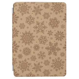 Snowflakes on Cardboard Pattern iPad Air Cover