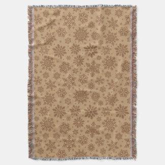 Snowflakes on Cardboard Pattern Throw Blanket