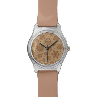 Snowflakes on Cardboard Pattern Wristwatch