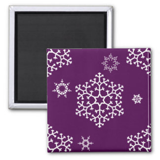 snowflakes_on_dark_magenta magnets