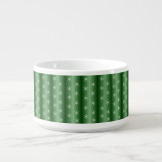 Snowflakes on Green Chili Bowl
