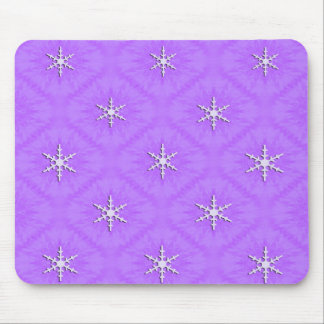 Snowflakes on lavender... mouse mat
