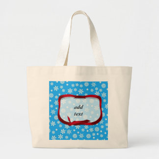 Snowflakes on Light Blue Background Bags