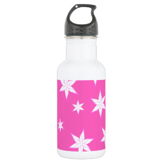 Snowflakes on Pink 532 Ml Water Bottle