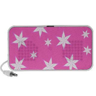 Snowflakes on Pink iPod Speaker