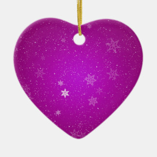 Snowflakes on Purple Sparkles Christmas Ornament