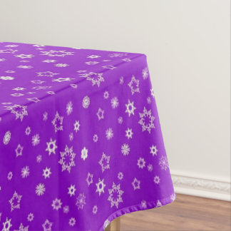 Snowflakes on Purple Tablecloth