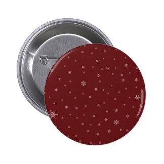 Snowflakes on Red 6 Cm Round Badge