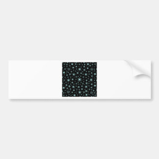 Snowflakes – Pale Blue on Black Bumper Stickers