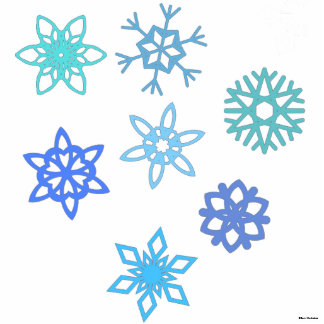 Snowflakes Pattern 3D Photo Silhouette Standing Photo Sculpture