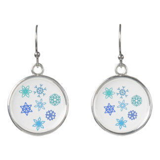 Snowflakes Pattern Dangle Earrings