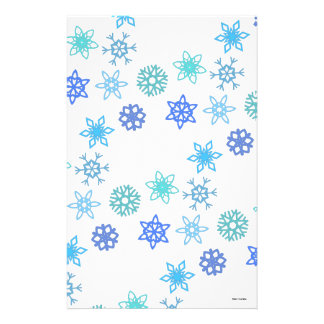 Snowflakes Pattern Holiday Stationary Stationery