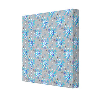 Snowflakes pattern III Gallery Wrapped Canvas